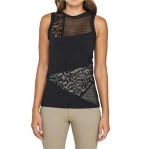 AnatomieDina Patchwork Tank with Lace Detail